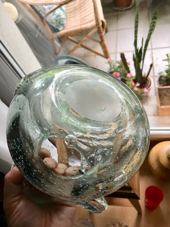Vase et broc à eau Verrerie d'art de Avallon Img_1216