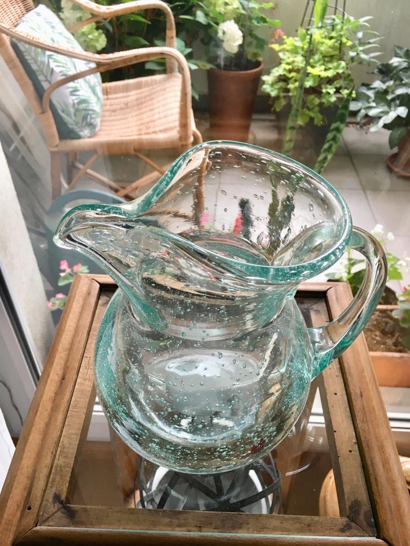 Vase et broc à eau Verrerie d'art de Avallon Img_1218