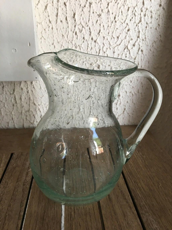 Vase et broc à eau Verrerie d'art de Avallon S-l16011