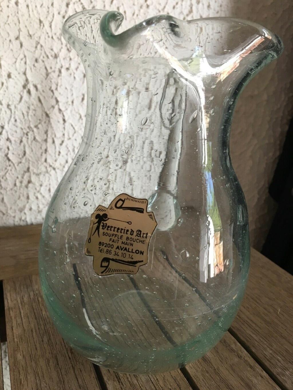 Vase et broc à eau Verrerie d'art de Avallon S-l16012