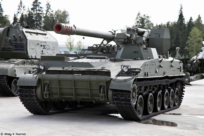 "2S43 ""Malva"" 152-mm self-propelled howitzer 005411"