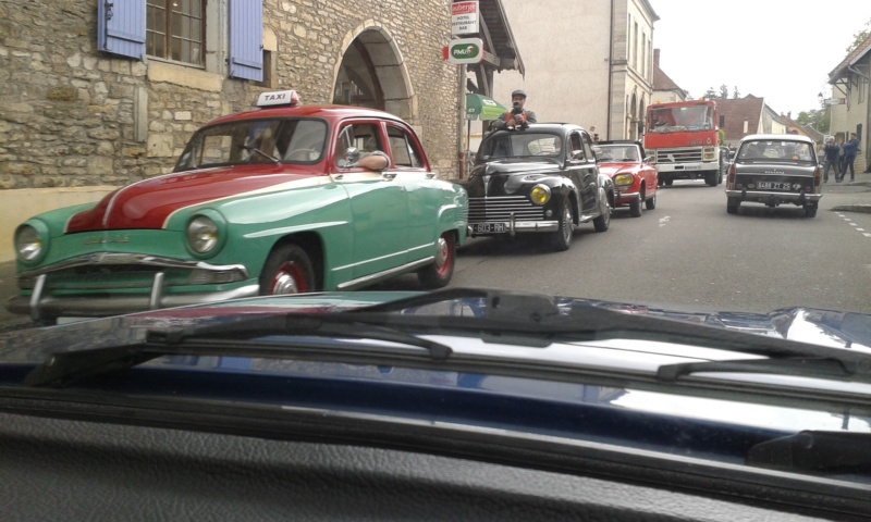 Embouteillage dans les rues de Rioz en Haute Saone 20190518