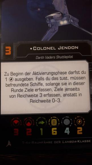 [Frage] Ist Colonel Jendon mit sich selbst befreundet? 20180910