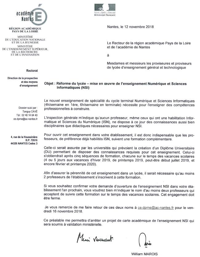 """Enseignement """"Numérique et sciences informatiques"""" - Page 2 Nsi10"""