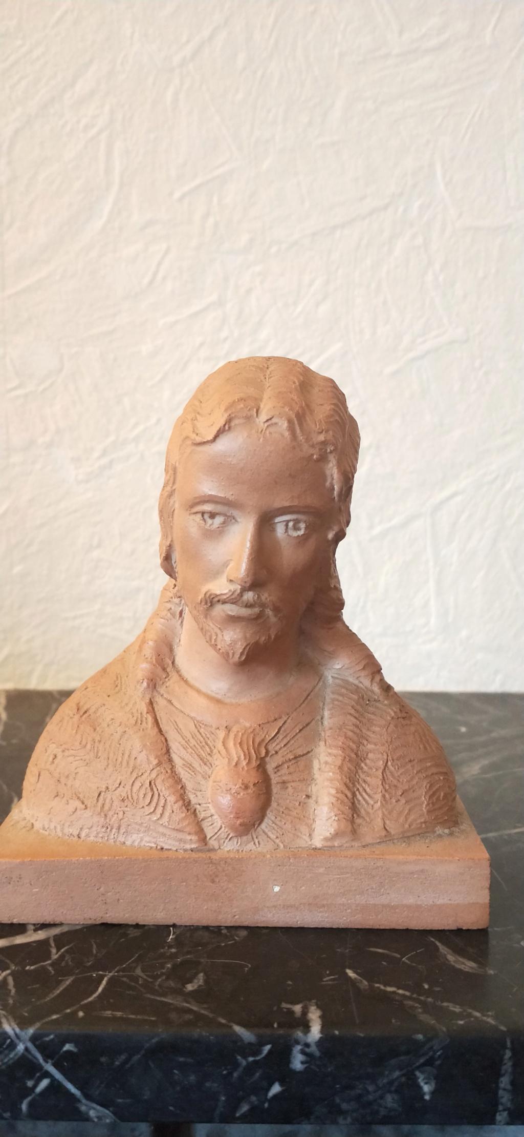 Buste Jésus Christ signature à identifier 15748410