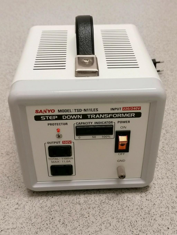 Reductor de voltaje de 230 a 100 voltios para equipo japonés Sanyo10
