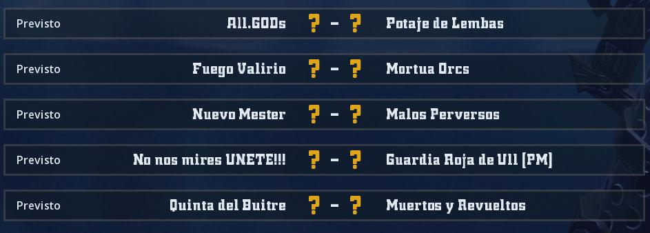 Liga Alianza Mixnotauro 2 - División Cuerno de Bronce / Jornada 5 - hasta el domingo 30 de junio J510