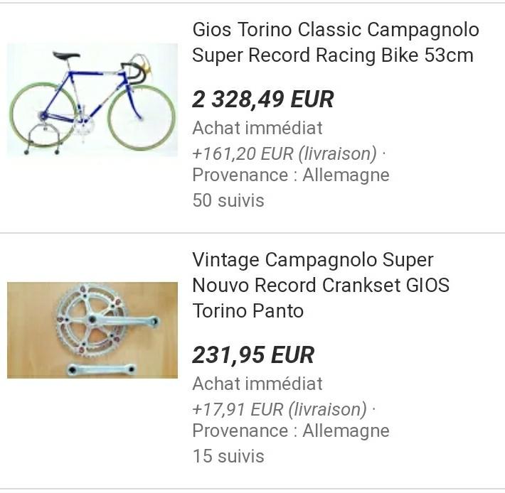 L' histoire d'un sauvetage : vélo route Gios Torino 1975 20190416