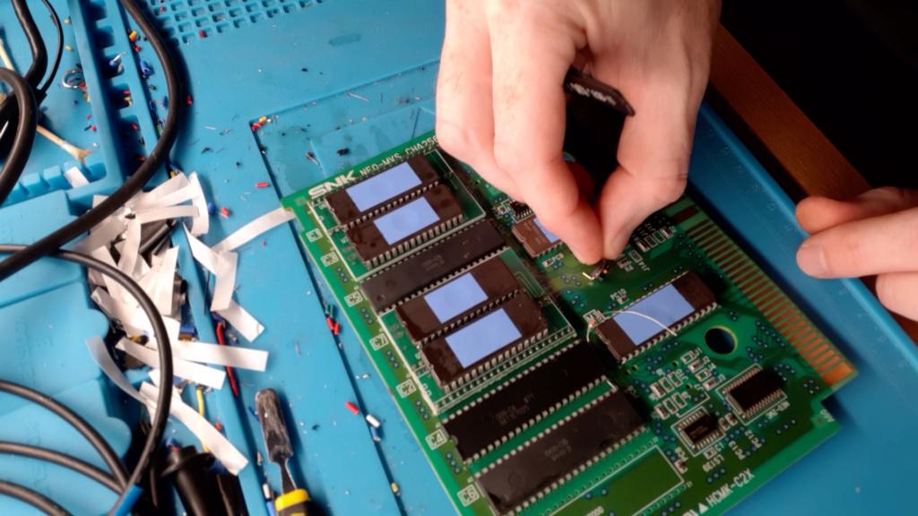 [WIP 100%] Réparation d'un slot MV-1FS en erreur Z80 - Création d'une cartouche de test audio 049_on10