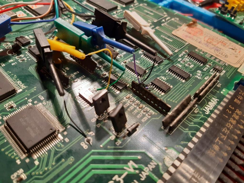 [WIP 100%] Réparation d'un PCB Psikyo Strikers 1945 II 20200826