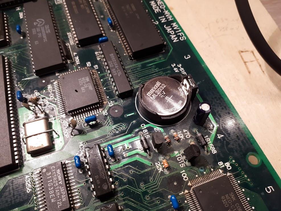 Mod de la pile sur slot MVS MV1B et MV2 Accuap10