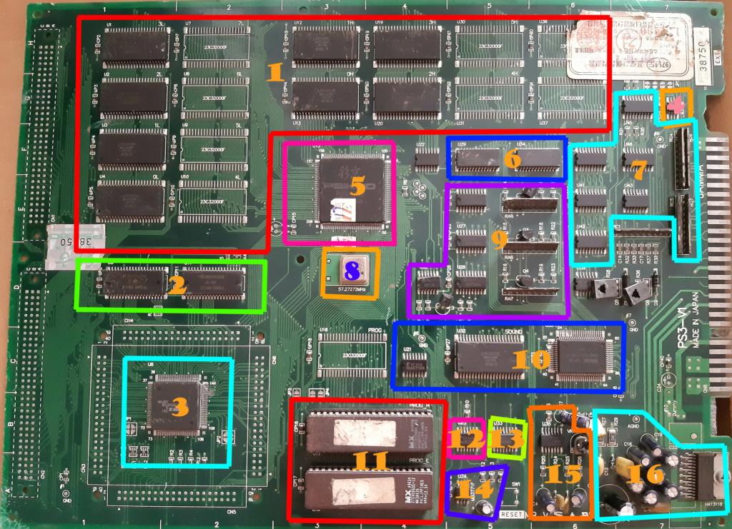 [WIP 100%] Réparation d'un PCB Psikyo Strikers 1945 II Board11