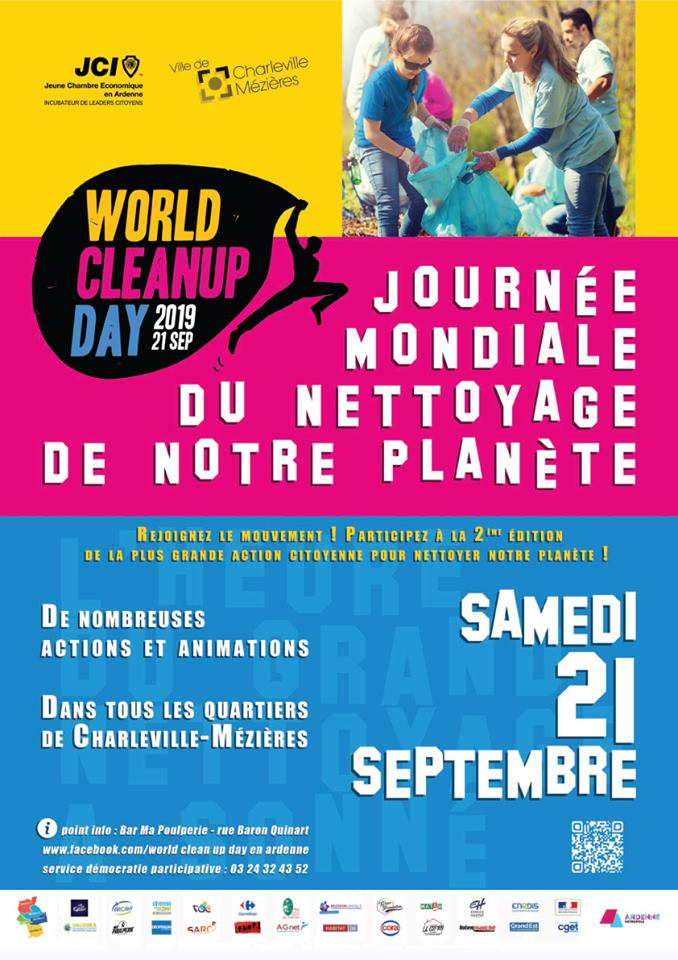 21/09/19 des plastics attacks en co-organisation avec le World Clean Up Day Ardennes  69453410