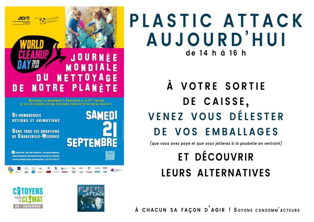 21/09/19 des plastics attacks en co-organisation avec le World Clean Up Day Ardennes  70604511