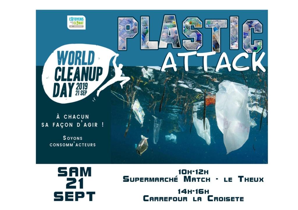 21/09/19 des plastics attacks en co-organisation avec le World Clean Up Day Ardennes  71227510