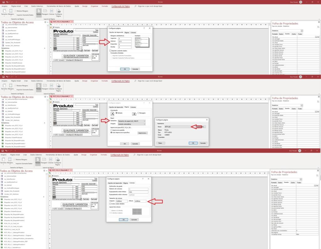 Como Inserir Configuração Página via VBA Config10