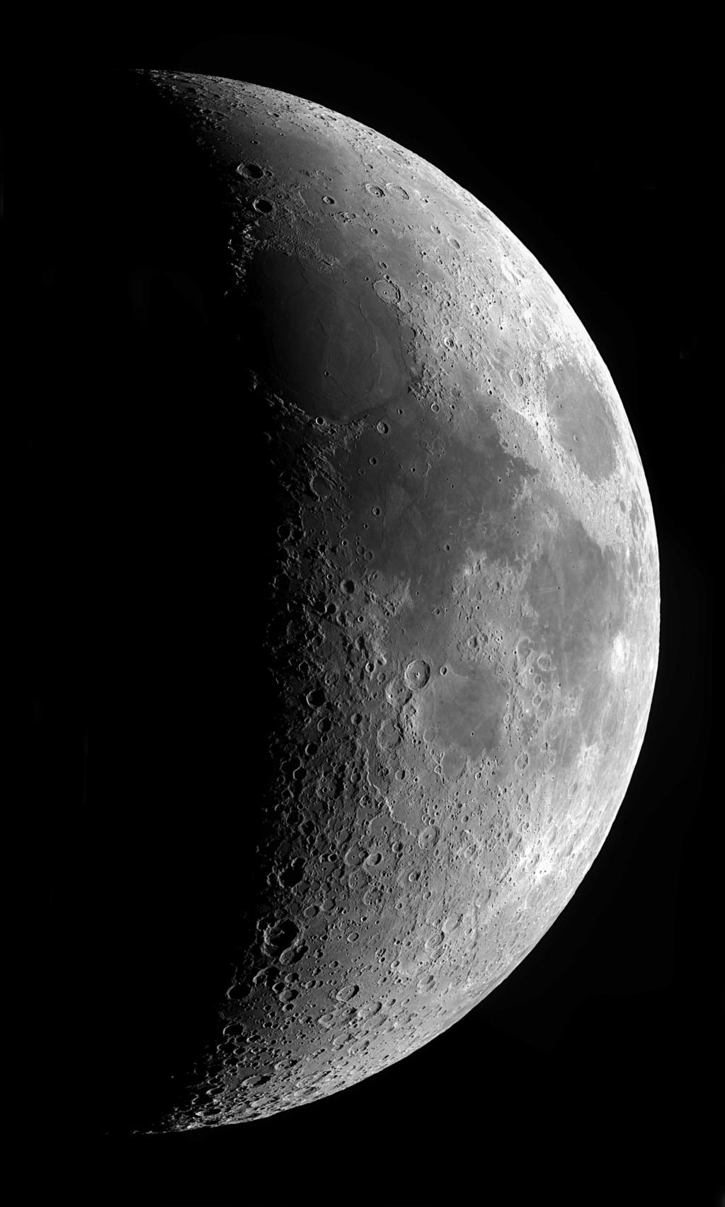 panoramiques de la lune au 6 ème jour de la nouvelle lune. Panora16