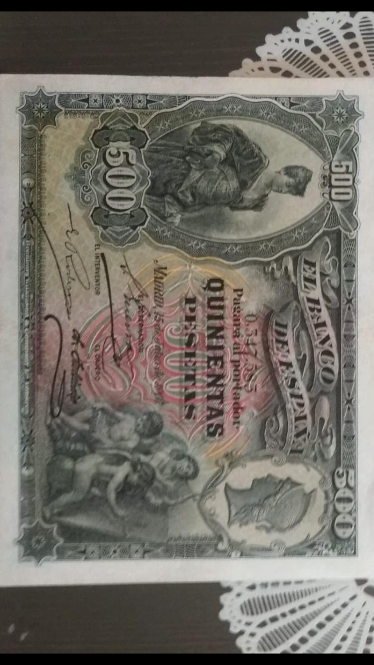 500 Pesetas 15 de Julio de 1907 Anvers14