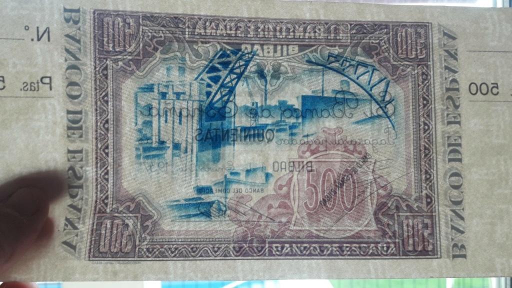 500 Pesetas 1937 (Banco de España Bilbao) Bilbao15