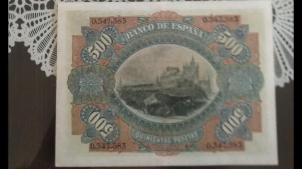 500 Pesetas 15 de Julio de 1907 Revers10