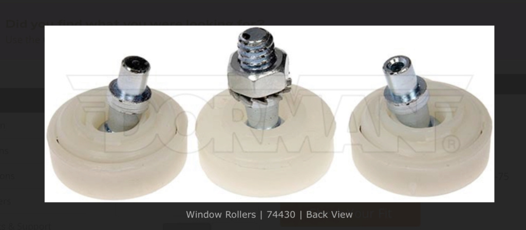 Replacement - Window Regulator Rollers 1976 Monte Carlo 3daf2810