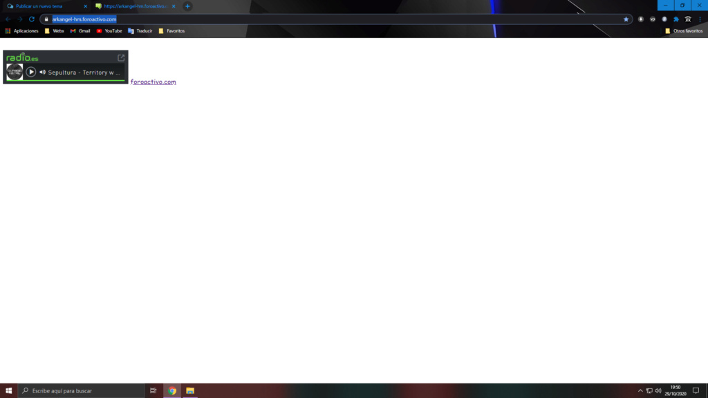 Creé una radio en html y ahora no abre el foro,  solo la radio. Foro10