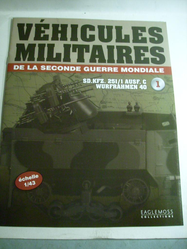 """retour de la serie """"véhicules militaires de la WWII au 43 eme"""" par Eaglemoss S7304421"""