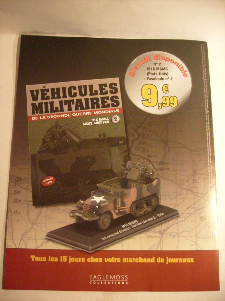 """retour de la serie """"véhicules militaires de la WWII au 43 eme"""" par Eaglemoss S7304428"""