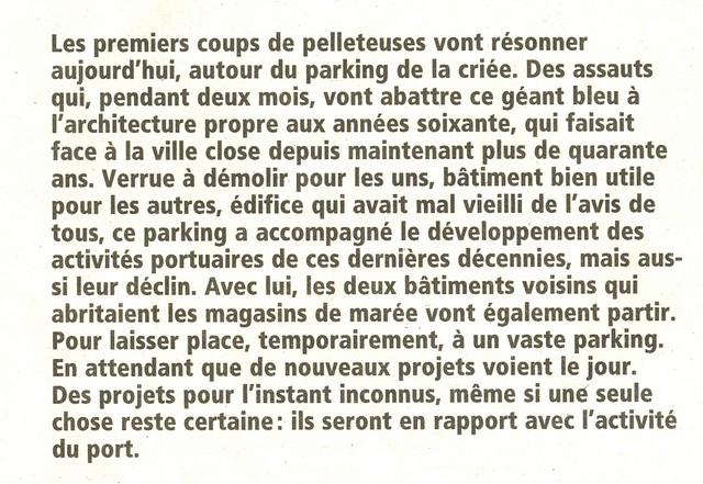 LES DERNIÈRES HEURES DU PARKING DE LA CRIÉE DE CONCARNEAU Numeri17
