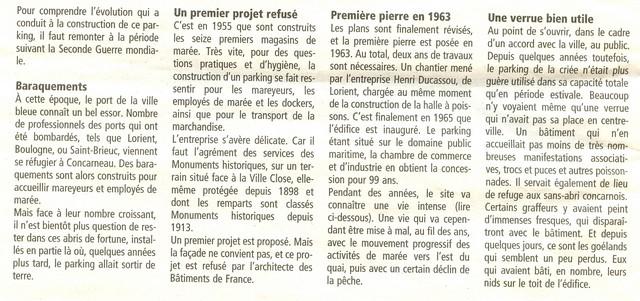 LES DERNIÈRES HEURES DU PARKING DE LA CRIÉE DE CONCARNEAU Numeri19