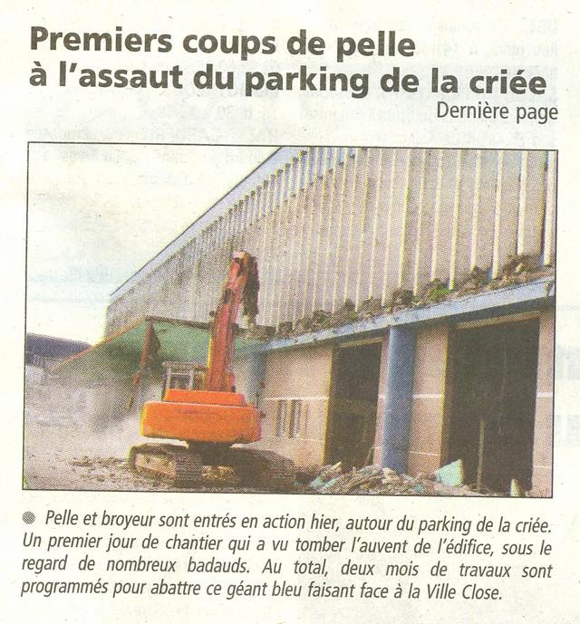 LES DERNIÈRES HEURES DU PARKING DE LA CRIÉE DE CONCARNEAU Numeri24