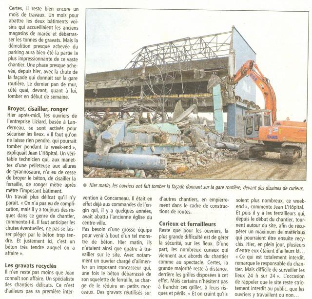 LES DERNIÈRES HEURES DU PARKING DE LA CRIÉE DE CONCARNEAU Numeri29