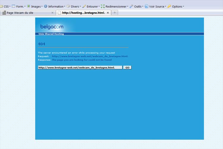 Page Webcam du site Erreur10