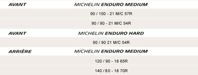 NOuveau pneu MICHELIN ENDURO : Présentation Dimens10