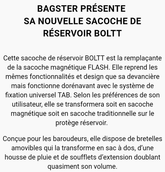 Sacoche Bagster XSR100 BOLTT  Screen10