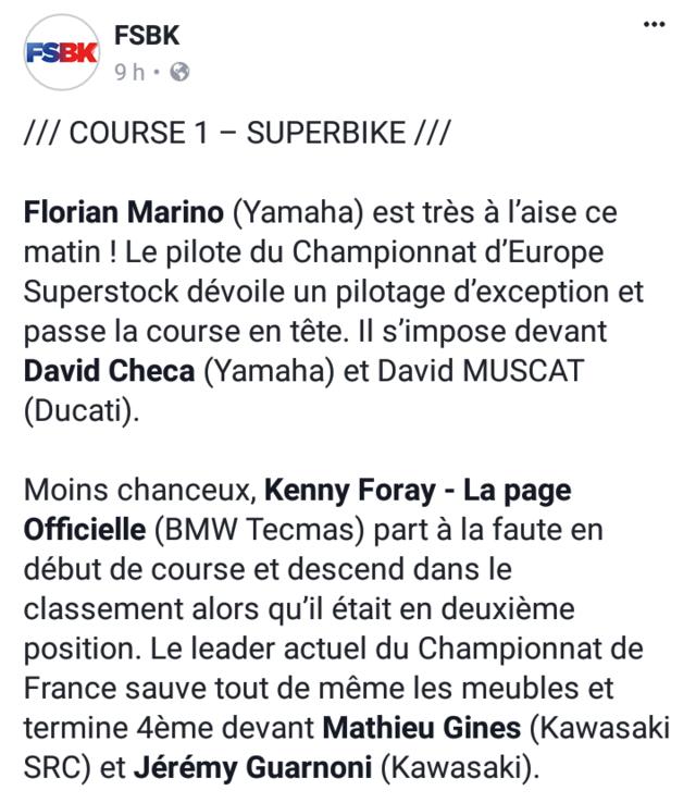 Florian Marino gagne en FSBK à MagnyCours(course1) Screen15