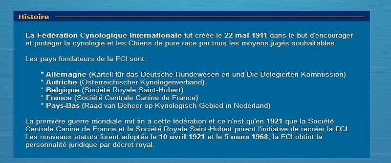 la FCI belge. Fci210