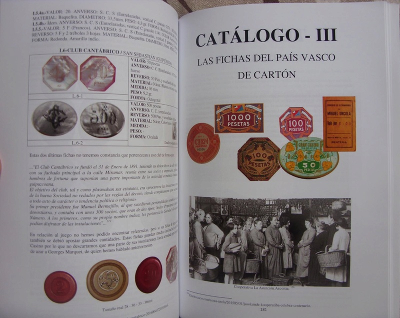 LIBRO DE MONEDAS NECESIDAD, JETONES Y FICHAS VASCAS 510