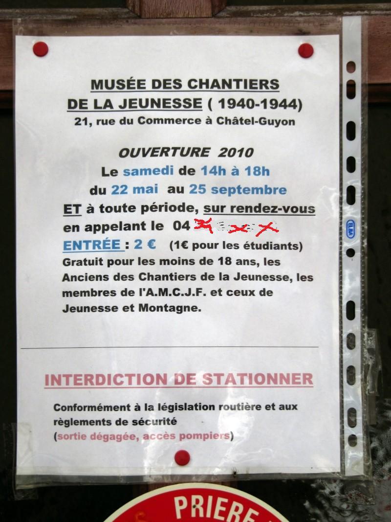 le musée des Chantier  de Jeunesse de Châtelguyon Cat10