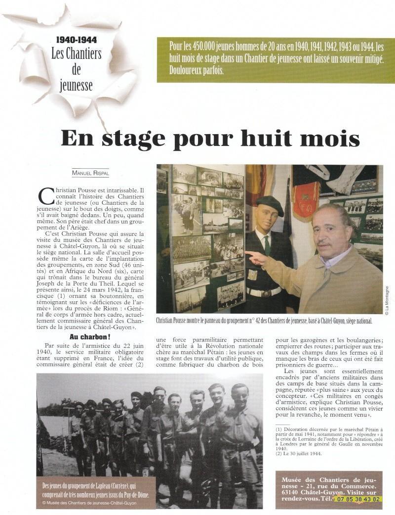 le musée des Chantier  de Jeunesse de Châtelguyon Chatel11
