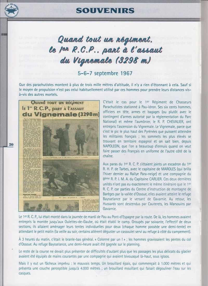 Quand tout un régiment, le 1er RCP...part à l'assaut du Vignemale (3298m) le 5/6/7 septembre 1967) Le colonel Aussaresses Chef de Corps du 1er RCP a bien voulu nous donner le secret de cette opération Quand_10