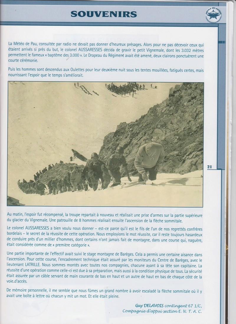 Quand tout un régiment, le 1er RCP...part à l'assaut du Vignemale (3298m) le 5/6/7 septembre 1967) Le colonel Aussaresses Chef de Corps du 1er RCP a bien voulu nous donner le secret de cette opération Quand_11