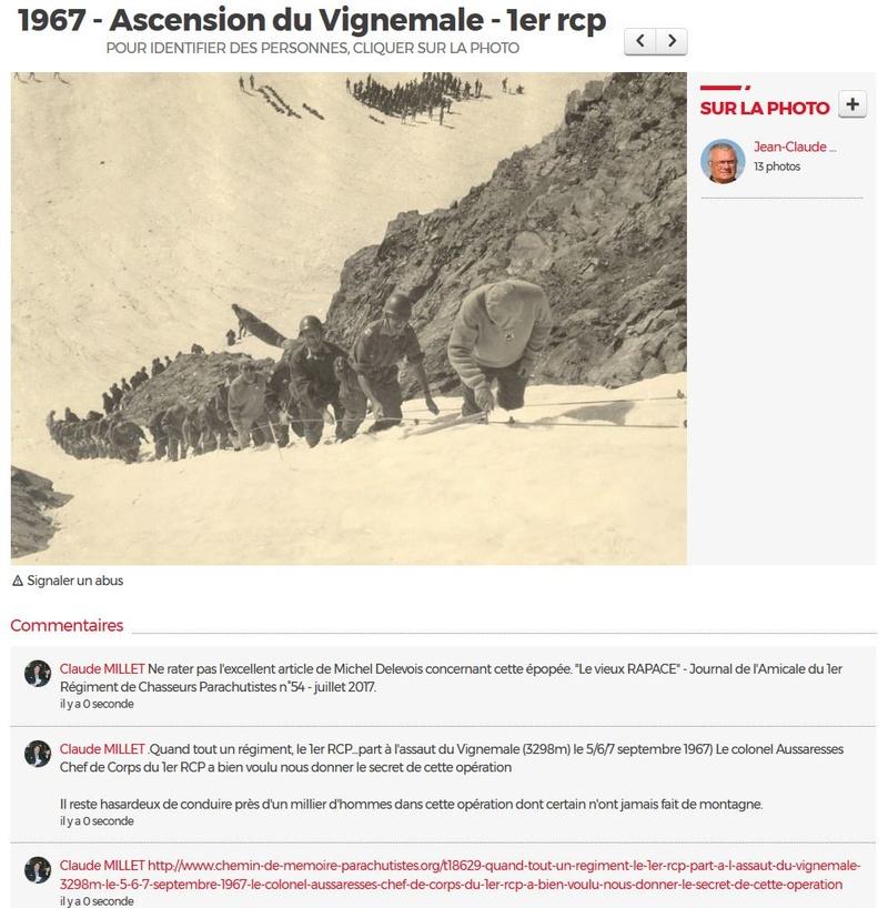 Quand tout un régiment, le 1er RCP...part à l'assaut du Vignemale (3298m) le 5/6/7 septembre 1967) Le colonel Aussaresses Chef de Corps du 1er RCP a bien voulu nous donner le secret de cette opération Vignem11