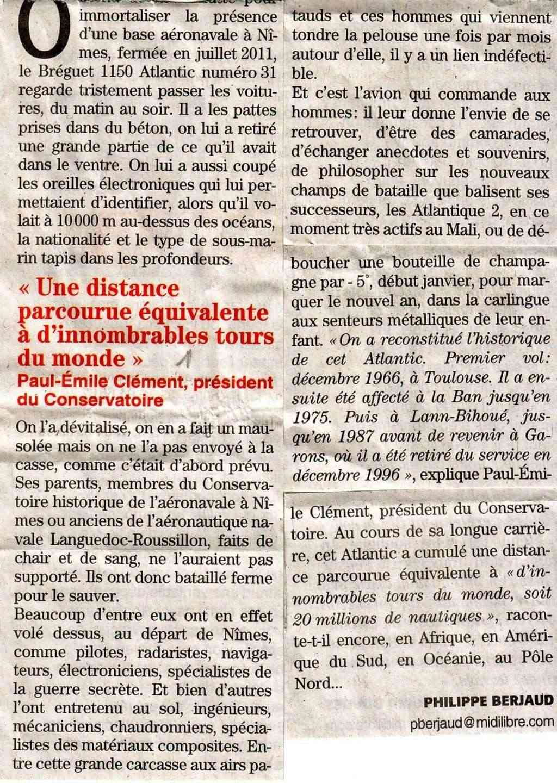 [Associations anciens marins] C.H.A.N.-Nîmes (Conservatoire Historique de l'Aéronavale-Nîmes) Atlant13