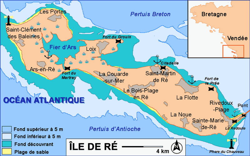 Île de Ré, Charentes-Maritimes, France Carte-10