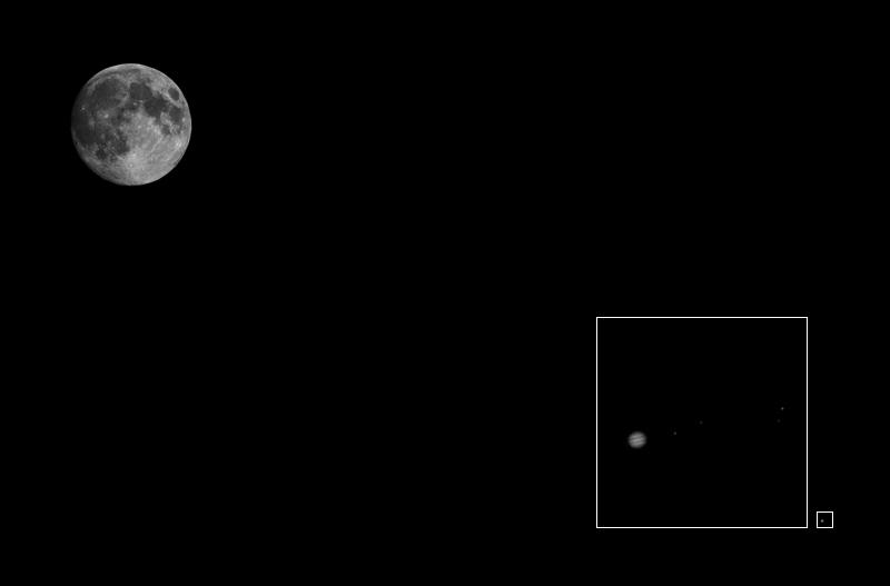 Rapprochement Lune Jupiter Zoom10