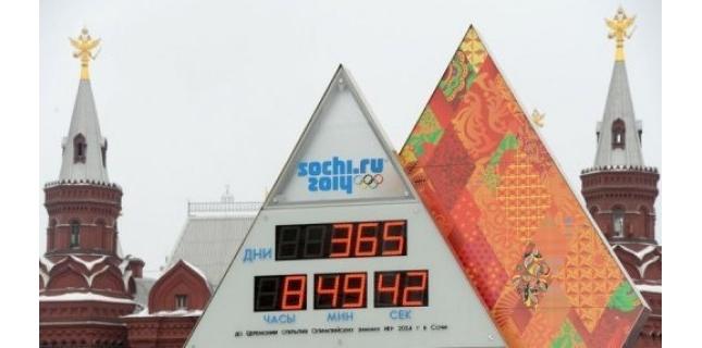 Le compte à rebours à -1 an du commencement des Jeux de Sotchi 2014 52075810