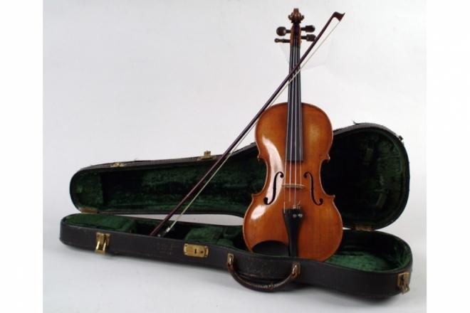 W. Wilkanowski  & gretsch.(Violin and guitar) 4675-110