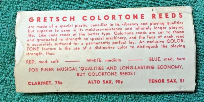 Gretsch Colortone Tenor Sax Reed - Medium Soft S-l16021