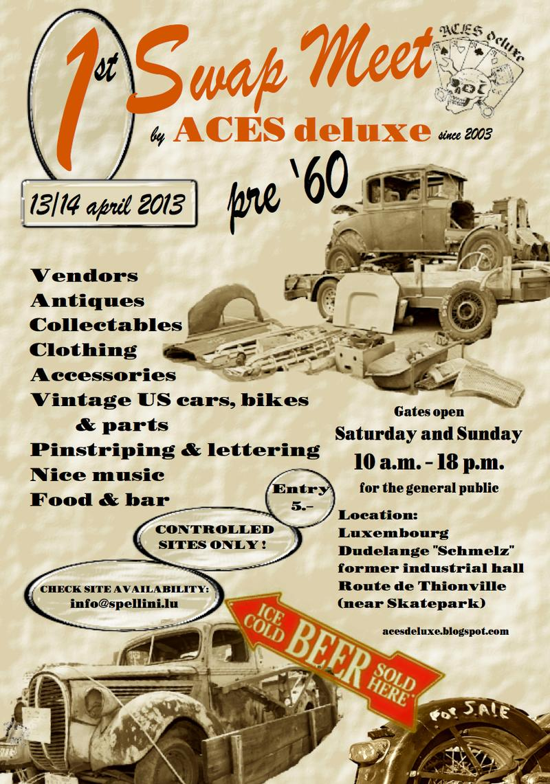 PRE 60S SWAPMEET FOR HOT RODS & BIKES,... : ACES DELUXE 12879310